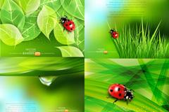 绿色自然背景图矢量素材
