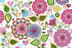 精美手绘花朵背景矢量素材