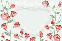 精美玫瑰花边框矢量素材