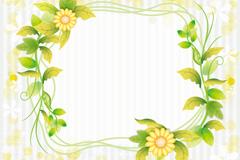 清新花朵边框矢量素材