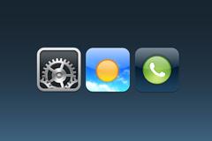 三个应用图标PSD素材