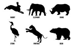 野生动物剪影矢量素材