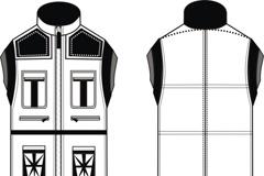 男装款式设计图矢量素材