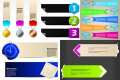 现代横幅条幅设计矢量素材