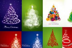 创意圣诞树图案矢量素材