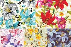 手绘花朵背景矢量素材