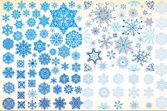 蓝色雪花图案矢量素材