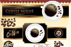 创意咖啡标签矢量素材