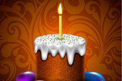 复活节彩蛋蛋糕矢量素材