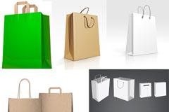 纸制包装袋模版矢量素材