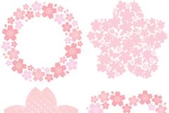 粉色花卉装饰矢量素材