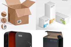 实用包装盒模版矢量素材