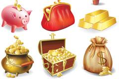 金币元素图标矢量素材