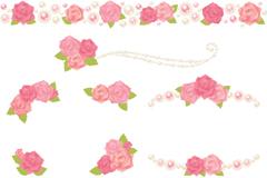 粉色花朵装饰矢量素材