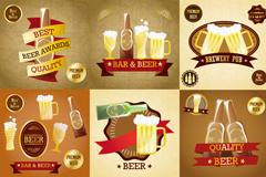 创意啤酒标贴矢量素材