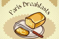 卡通法式面包插画矢量素材