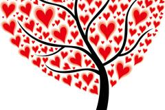 精美爱心树矢量素材