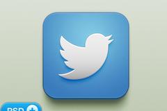 Twitter高清图标PSD素材