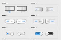 很多开关按钮PSD素材