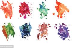 彩色喷绘矢量素材