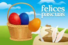 复活节彩蛋兔子矢量素材