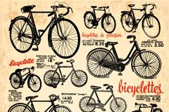 复古自行车海报矢量素材