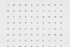140个系统设置小图标PSD素材