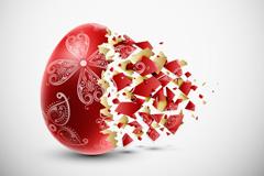 创意彩蛋碎片背景矢量素材