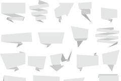 白色折纸对话框矢量素材