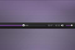 紫色播放条框PSD素材