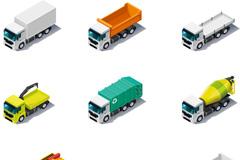 卡通运输车辆矢量素材