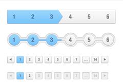 界面页码元素PSD素材
