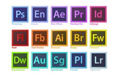 Adobe软件图标矢量素材