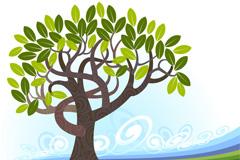 质朴树木背景矢量素材