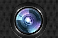 反光镜头PSD素材