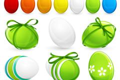 复活节缤纷彩蛋矢量素材
