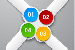 创意彩色标贴矢量素材