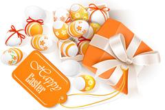 橙色彩蛋礼包矢量素材