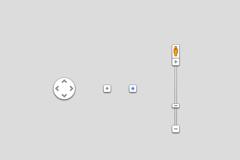 谷歌地图界面元素PSD素材