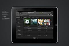 ipad音乐应用程序PSD素材