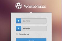 WordPress登录界面PSD素材
