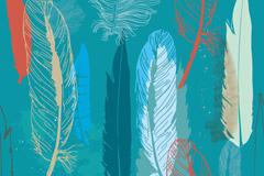 抽象羽毛背景矢量素材