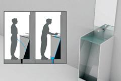 洗手台与小便池的完美结合