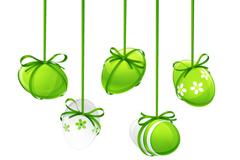 精美绿色花纹吊蛋矢量素材