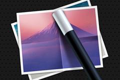 笔与图片图标PSD素材