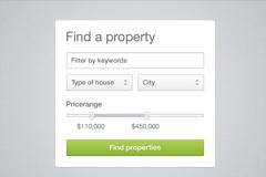 房子财产查询界面PSD素材
