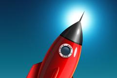 火箭图标PSD素材