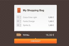 购物包结算界面PSD素材