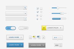简易界面元素PSD素材