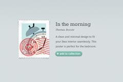 电子邮票收藏界面PSD素材
